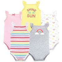 Hudson Baby Sleeveless Bodysuits, 5-Pack, Rainbows