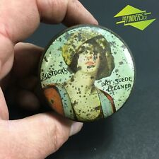 STUNNING c.1920 BOSTOCK'S DRY SUEDE CLEANER SYDNEY NSW NOUVEAU ADVERTISING TIN
