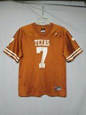 Ncaa Texas Longhorns # 7 Nike Football Youth Jersey Size Medium