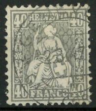 "SWITZERLAND - SVIZZERA - 1867/78 - Allegoria dell'""Helvetia"" - 40 cent. grigio"