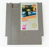 NES Metroid Authentic Silver Label Nintendo Game Cart Tested Working (LOT A)