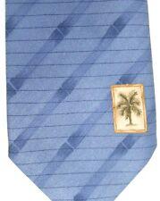 "Tommy Bahama Men's Silk Tie 57"" X 4.25"" Blue w/ British Stripes"