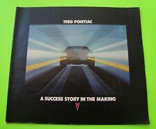 1980 PONTIAC FULL LINE DLX COLOR CATALOG Grand Prix TRANS AM Safari 38-pgs XLNT