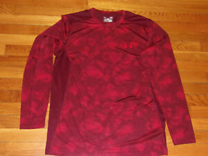 UNDER ARMOUR HEATGEAR LONG SLEEVE FITTED JERSEY MENS LARGE EXCELLENT CONDITION
