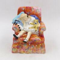 "Very RARE 1952 Royal Doulton [HN 2114] ""SLEEPYHEAD"" Girl in Chair 5"" Figurine"