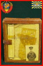 RKKA Full SET for flight leather Field bag ruler pilot's aeronautical map WW2