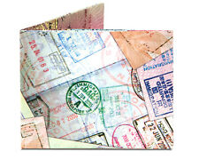 Dynomighty PASSPORT STAMPS TRAVEL bifold MIGHTY WALLET made of tyvek DY-603