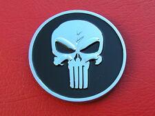 PUNISHER SKULL CAR BADGE Round Metal Emblem *NEW & UNIQUE* Movie Skull