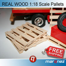 1/18 Scale Pallets for Garage Diorama (3 -REAL WOOD and to SCALE)