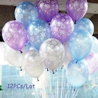 12Pcs Latex Christmas Balloon Birthday Party Supplies Décor Frozen Snowflake Hot