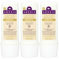 Aussie 3 Minute Miracle Shine Super Boost Hair Treatment, 3 Pack of 250ml