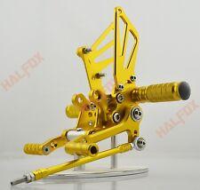 US Gold Rearsets Footpegs Rearset For Suzuki Gsxr 600/750 00-05 GSXR1000 01-04