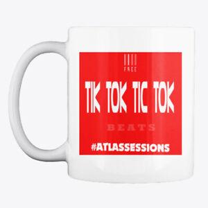 Atlas Sessions Hip Hop Beats Hashtag Producers Tik ToK Red White Fan Gift Mug