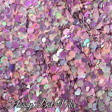 Mixed Nail Glitter Dots Gel/acrylic Nail art Pink White 5g Bag Flossy