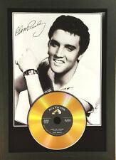 More details for elvis presley signed photograph gold disc collectable memorabilia gift mk10