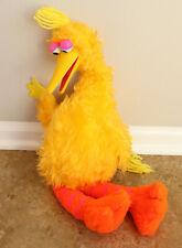 Vintage 1980 Sesame Street Talking Big Bird Pull String Plush Toy - WORKS
