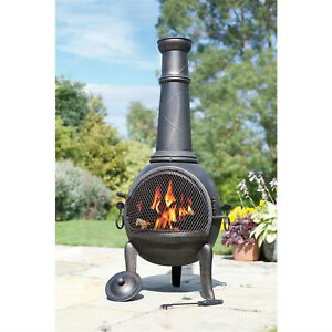 La Hacienda Monterrey Chimenea Garden Patio Heater Log Burner FAST+FREE 🚚 🔥 #4