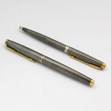 Vintage Sterling Silver Parker Cisele Ballpoint & Fountain Pen Set