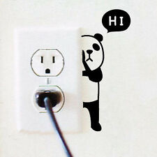 AU_Panda Switch Sticker Wall Quote Wall Stickers Vinyl Decor Decals Home Mural.A