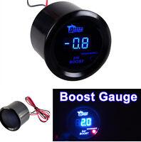 52mm 2'' 12V BLUE Light LED PSI Turbo Boost Pressure Gauge Sensor Gauge Meter
