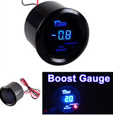 52mm 2'' 12V BLUE Light LED PSI Turbo Boost Pressure Gauge Sensor Gauge Meter
