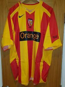 RC Lens maillot domicile Racing Club de Lens home shirt 2005/6 XXL Ligue 1