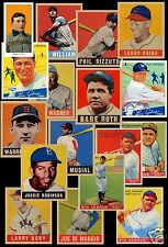 NEW Set of 33 REPRINTS 1909-49 Ruth, Wagner, Gehrig, J.Robinson, T.Williams
