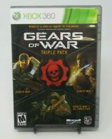 GEARS OF WAR - TRIPLE PACK 2-DISC GAME F/ MICROSOFT XBOX 360, DISCS, CASE, MANUA