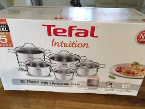 Tefal Set 10P Intuition V2 Inox Poli Tef Oxo