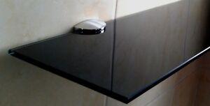 Black Glass Shelf - Custom Made - Glass Shelves - 4mm-10mm - Cheapest on Ebay!