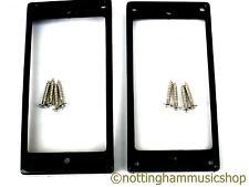 2 black curved humbucker pickup surrounds rings +chrome screws ring LP guitar