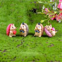 4 stücke Herz Igel Harz Miniatur Figur Garten Decor Micro Landscha JMDEWTDE