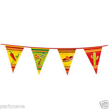 6m Mexcian Fiesta Sombero Bunting Banner Summer Party Flag Garland Decoraton