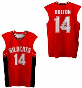 Wildcats 14# Troy Bolton East High School Mens Basketball Jerseys Stitched Red