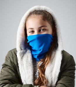 Snood Face Mask Scarf Kids Boys Girls Black Neck Tube Washable Morf Original
