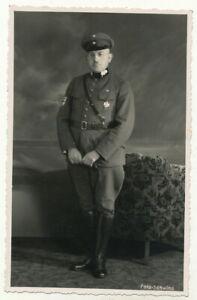 Foto AK - Soldat Veteran ? evtl. Freikorps Ärmelabzeichen Orden -