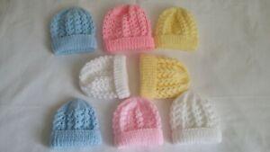 Baby Premature & Newborn Hand Knit Hats New