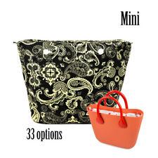New Mini Colorful O bag waterproof Insert Canvas Zipper Pocket for Mini Obag
