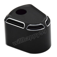 Black Edge Cut Ignition Switch Cover for Harley Electra Road  Glide 2006-2013