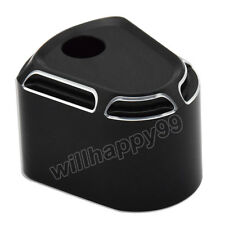 Black Billet Aluminum Edge Cut Ignition Switch Cover for Harley Touring 06-13