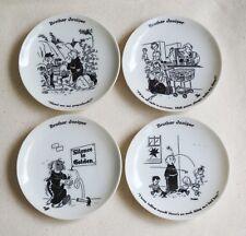 "Set of 4 Vintage 1958 - Brother Juniper - 4"" Snack Candy Cartoon Novelty Plates"