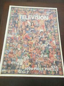 NEW White Mountain Puzzle TELEVISION HISTORY 1000 Pc Collage #10312  (2006)
