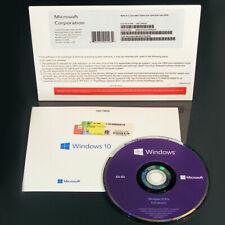 Microsoft Windows 10 PRO 64 Bit Full Version DVD with COA and product Key - NEW