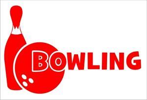 Aufkleber Bowling,  hochwertiger Folienschnitt, kein Druck!