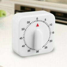 1 Hour Long Ring Bell Alarm Loud 60-Minute Kitchen Cooking Timer Mechanical USA