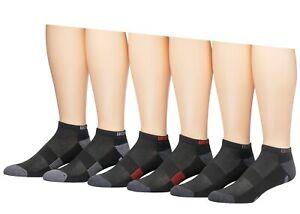 NEW Body Glove Men's Low Cut Athletic Socks, 6 Pack, Black With Burgundy/Grey