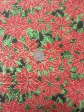 Seasons Greetings Poinsettia Fabri-Quilt 100 Cotton Quilting Fabric 103-410