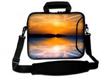 Laptoptasche Umhängetasche Sonnenuntergang am Meer für 17 Zoll Laptop mit Fach