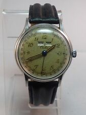 Vintage Men's Croton Day Date Month Calendar Wind Up Watch L@@K WORKING