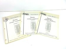 Montgomery Ward Service Manual Laundry Schematics CRS-85071 Lot Of 3
